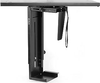 VIVO Black Adjustable Under-Desk Slider Pc Mount, Computer Case Holder with Pullout Slide Track and 360 Degree Swivel (Mou...