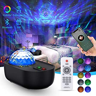 Star Projector Night Light, EnBrilite Galaxy Projector Nebula Cloud Ocean Wave Light Projector with White Noise Bluetooth Speaker Remote Control, Galaxy Light Projector for Bedroom, Babys, Kids Gift