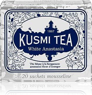 Kusmi Tea - White Anastasia - White Tea Blend with Citrus, Bergamot & Lemon - All Natural Loose Leaf Green and White Tea B...