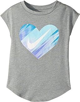 Nike Kids Heart Gradient Morph Short Sleeve Tee (Little Kids)