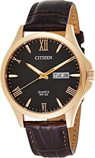 CITIZEN Mens Quartz Watch, Analog Display and Leather Strap - BF2023-01H