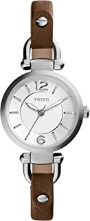 Fossil Georgia Analog White Dial Brown Leather  Watch for  Women - ES3861