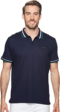 Multicolor Tipped Collar Polo