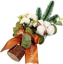 TOYANDONA Christmas Table Centerpiece Artificial Xmas Tree Cotton Pine Needles Branches Picks for Holiday Seasonal Xmas Ta...