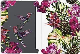 Cavka Case for Apple iPad 12.9 Pro 11 10.5 9.7 inch Air 3 2 Mini 5 4 3 2 1 2019 2018 2017 Hummingbird Design Bright Birds Slim Girls Auto Wake Sleep Leaves Tropical Pink Protective Pineapple
