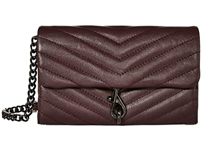 Rebecca Minkoff Edie Wallet On Chain (Currant) Handbags