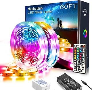 60ft Led Lights,dalattin Led Strip Lights for Bedroom Color Changing Lights with 44 Keys Remote Controller Led Strip Light...
