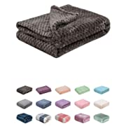 Fuzzy Blanket or Fluffy Blanket for Baby Girl or boy, Soft Warm Cozy Coral Fleece Toddler, Infant or Newborn Receiving Blanket for Crib, Stroller, Travel, Decorative (28Wx40L, XS-Eagle Grey)