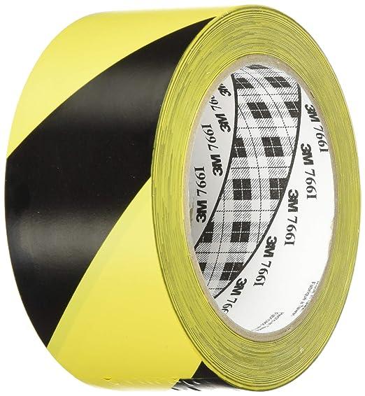 99 opinioni per 3M Nastro adesivo segnaletico 766 Film Vinilico, 50 mm X 33 m, Nero e Giallo, 1