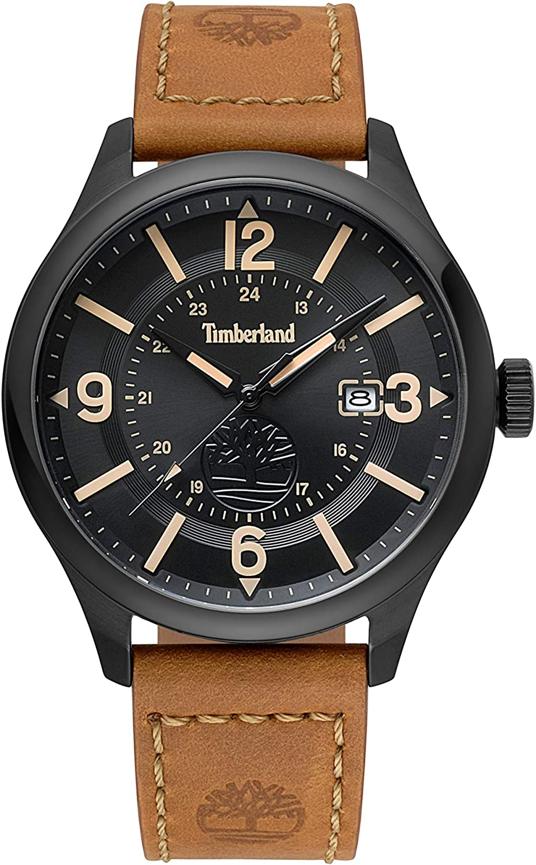 Timberland Reloj Analógico para Hombre de Cuarzo con Correa en Cuero TBL.14645JSB/02