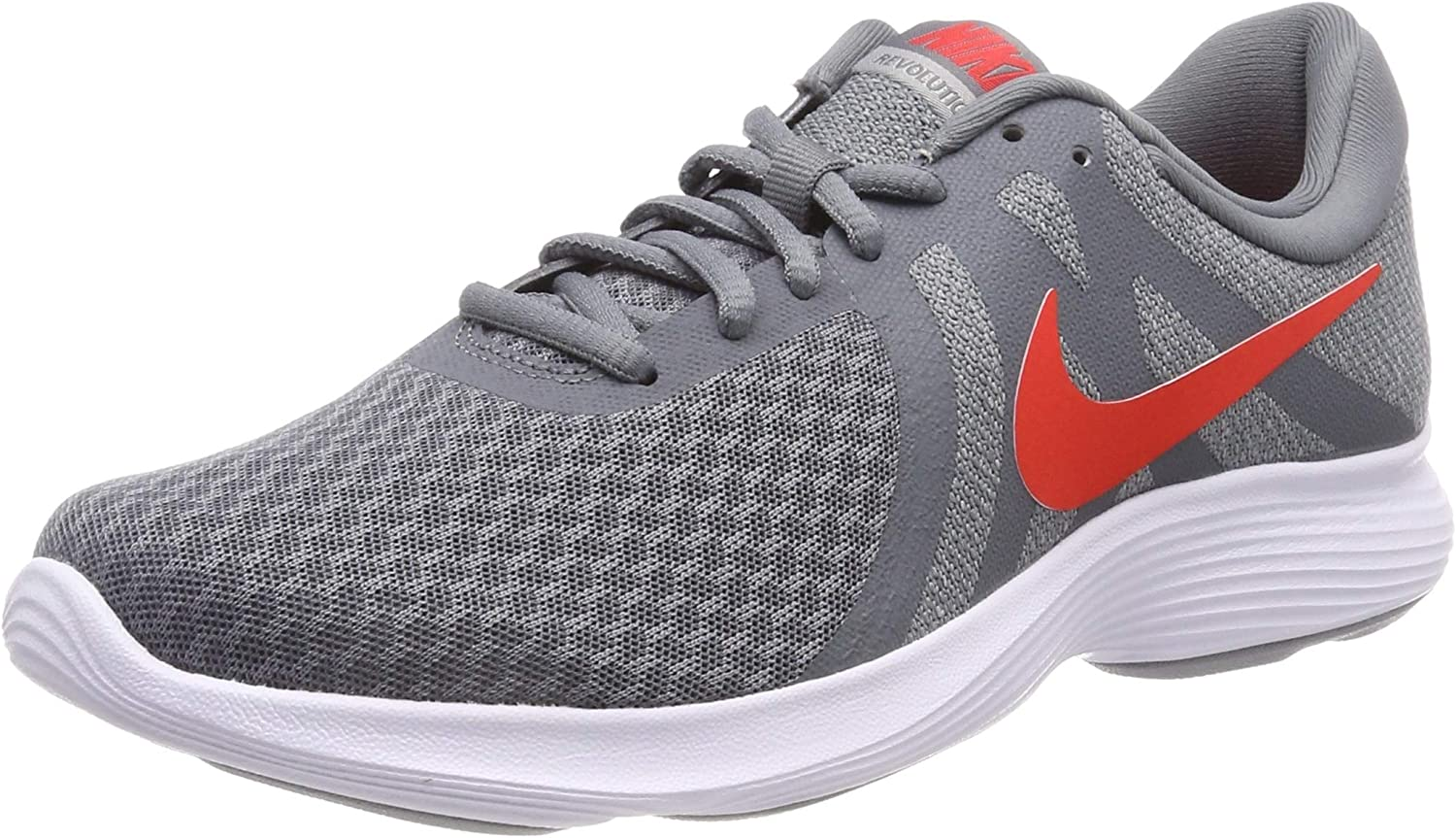 Nike Men's Revolution 4 EU Competition Running shoes, Multicolour (Cool Habablack Red Wolf Grey White 013), 6 UK