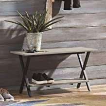 Alaterre Furniture Cornerstone Entryway Bench, Gray