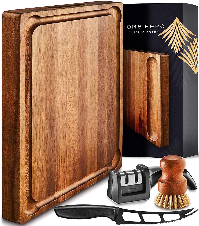 Large Wood Cutting Board Handle