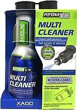 XADO Atomex マルチクリーナー - 燃料システムクリーナー インジェクタークリーナー | 10-15ガロンのガソリン燃料を処理します - インジェクターノズル、インレットバルブ、燃焼室(ボトル、250ml) (ガソリン)