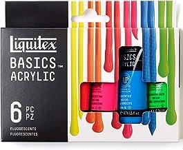 Liquitex BASICS 6 Tube Acrylic Paint Set, 22ml, Fluorescent