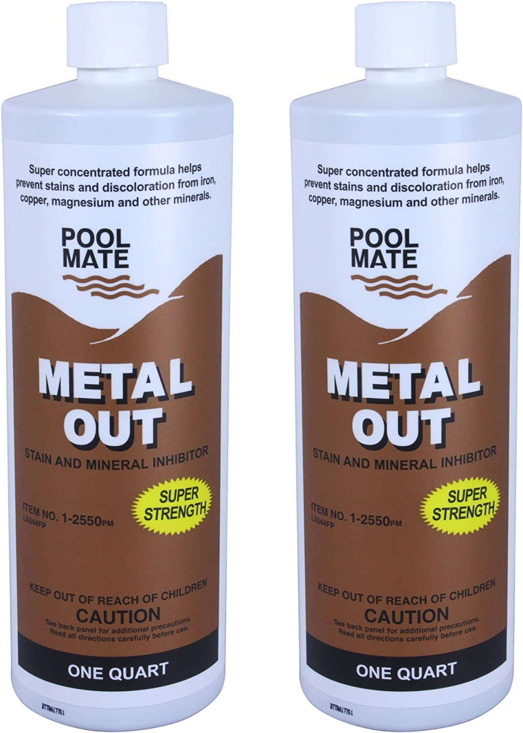 Pool Mate 1255002 Mineral Out and Stain Remover for Swimming Pools, 1Quart, 2Pack