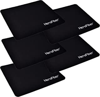 HeroFiber Highly Accurate Ultra Thick 3mm Non Slip Mouse Pad (5 Pack)