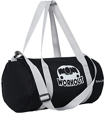 SALUTE HUNK WORKOUT 25L Black Duffle Gym Bag