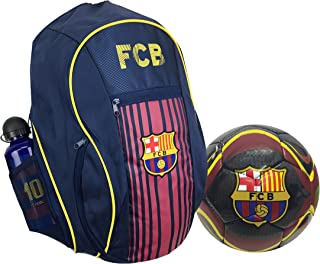 18850fb1b FC Barcelona Backpack with a Barcelona Ball Size #5 and one Messi Metallic  Bottle