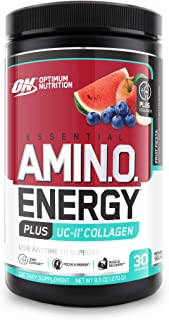 Optimum Nutrition Amino Energy + Collagen Powder - Pre Workout, Post Workout Muscle Recovery Energy Powder ...