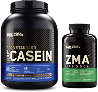 OPTIMUM NUTRITION Gold Standard 100% Micellar Casein Protein Powder with ZMA Muscle Recovery and Endurance Supplement for ...