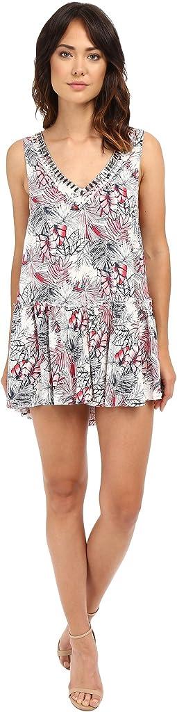 Lisanna V-Neck Dress with Beading