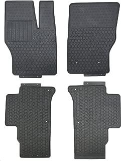 Black Rubber All Weather Floor Mats for 2014 Up Range Rover Sport