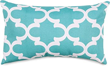 Small, Teal : Majestic Home Goods Trellis Pillow, Small, Teal