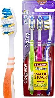 Colgate Zig Zag Deep Interdental Clean Toothbrush Flex Soft Value, 3 Pack
