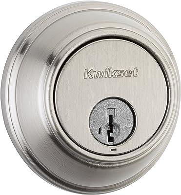 Kwikset 816 Key Control Single Cylinder Deadbolt featuring SmartKey in Satin Nickel