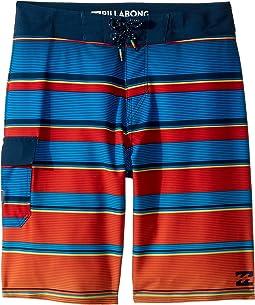 Billabong Kids All Day X Stripe Boardshorts (Big Kids)
