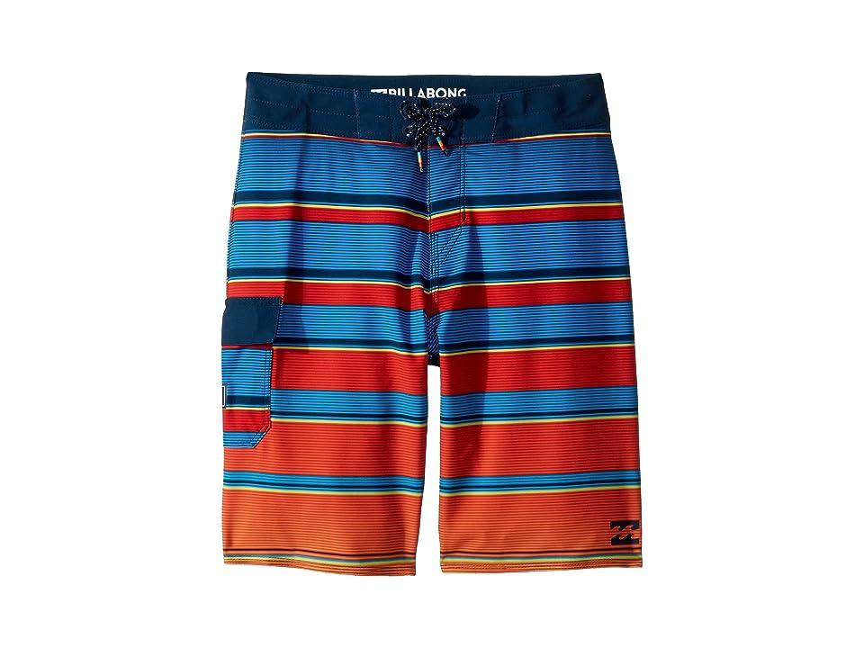 Billabong Kids All Day X Stripe Boardshorts (Big Kids) (Blue) Boy