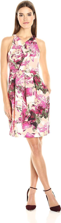 Adrianna Papell Womens Faille Criss Cross Neckline Dress Dress