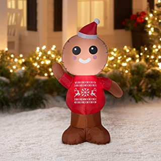 Gemmy Industries Airblown Inflatable Gingerbread Man 4 Feet Tall