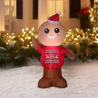 Gemmy Industries Airblown Inflatable Gingerbread Man 4 Feet Tall
