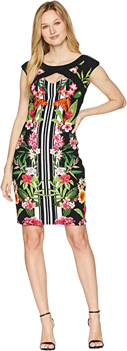 Tropical Cap Sleeve Dress