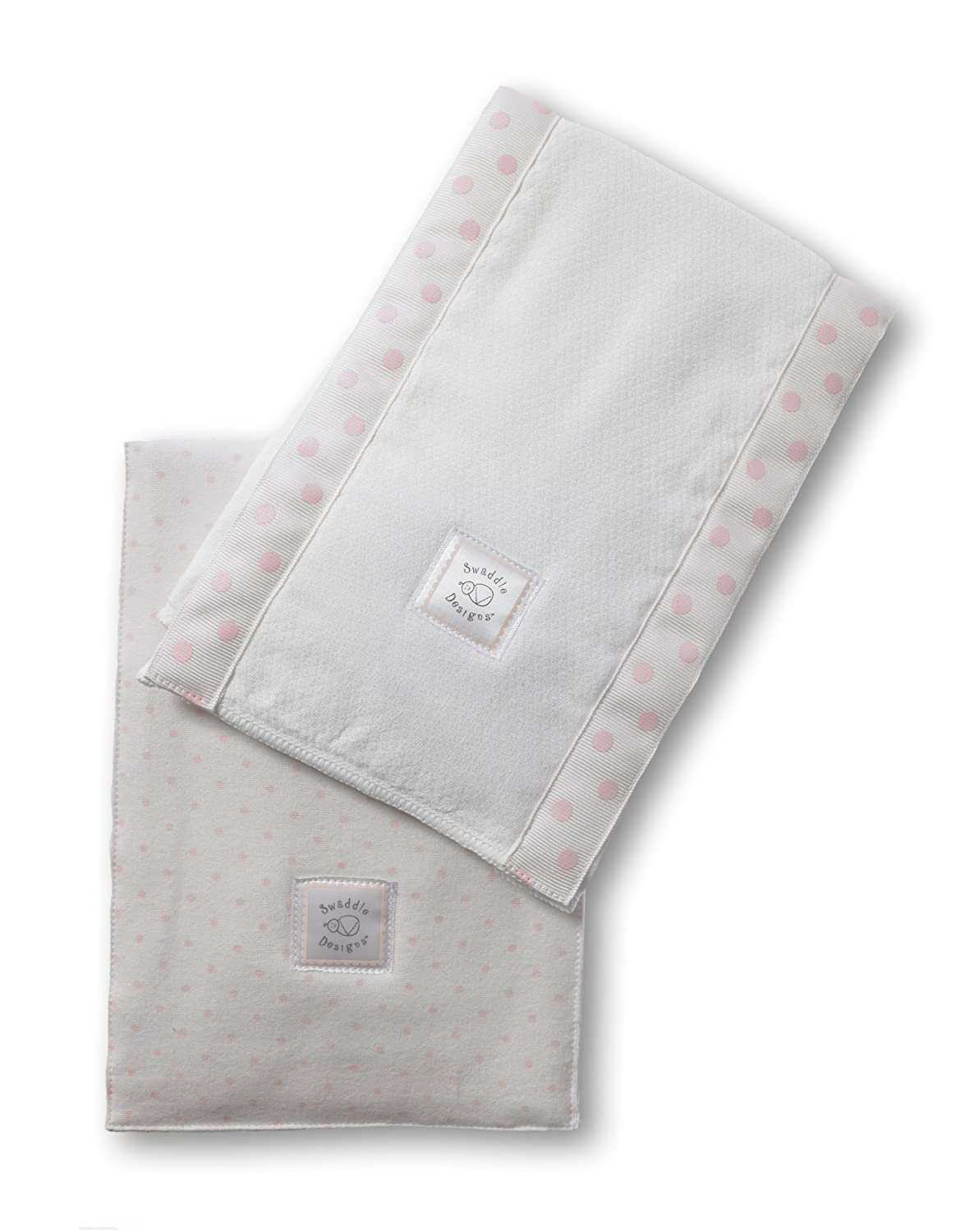 SwaddleDesigns Challenge the discount lowest price Baby Burpies Set of 2 Cloths Cotton Burp Pastel