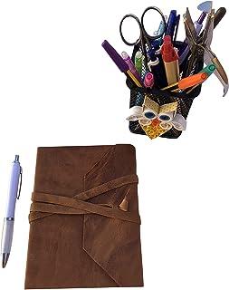 CG - Talento Fiorentino, quaderno, agenda, diario, libro muto rivestito in vera pelle effetto stropicciato vintage col. Sp...