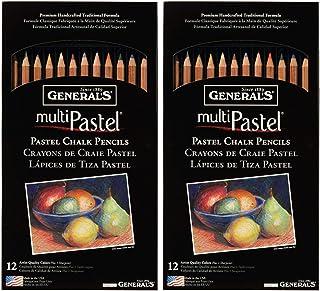 عبوتان - أقلام رصاص جنرال 4400-12A بألوان الباستيل من جنرال