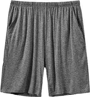 Men's Pajama Shorts Comfortable Lounge Sleep Shorts with Pockets