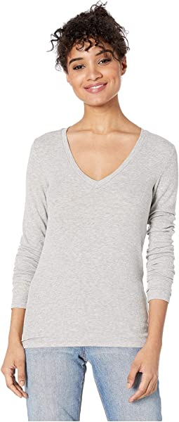 Valley 2x1 Rib Long Sleeve V-Neck