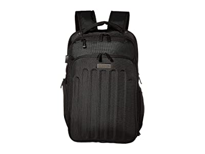 Kenneth Cole Reaction 15 TSA Checkpoint Friendly Laptop Tablet USB Charging Port Business Backpack (Black) Backpack Bags
