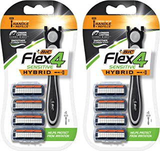 BIC Flex 4 Hybrid Razor, 8 Count