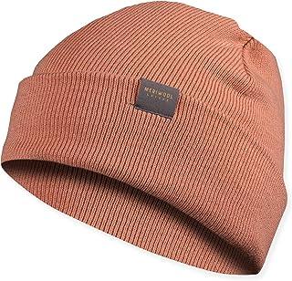 MERIWOOL Unisex Beanie - Merino Wool Ribbed Knit Winter Hat for Men and Women