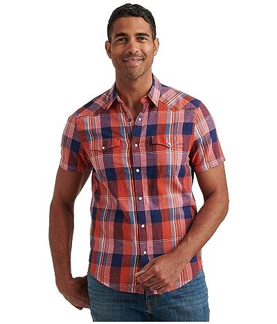 Lucky Brand Short Sleeve Mesa Western Shirt (Red Plaid) Men
