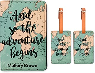 matching passport cover and luggage tag