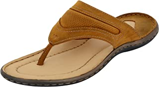 FORESTHILL Men's Leather Outdoor Slippers and Floaters