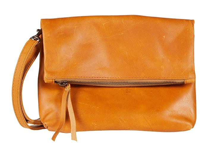 ABLE  Emnet Fold-Over Crossbody (Cognac 1) Cross Body Handbags