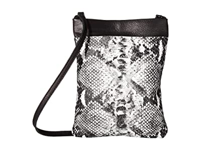 Leatherock Monroe Cell Pouch (Snake Black/White/Black) Cross Body Handbags