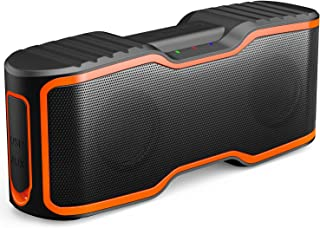 AOMAIS Sport II Portable Wireless Bluetooth Speakers 20W Bass Sound, 15H Playtime, Waterproof IPX7, Stereo Pairing, Durable Design Backyard, Outdoors, Travel, Pool, Home Party Orange
